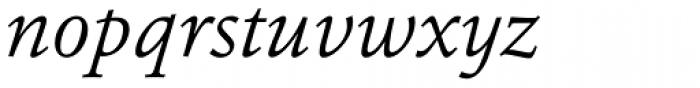 Erato Light Italic Font LOWERCASE