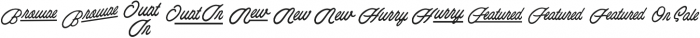 Esoteric_Taglines otf (400) Font LOWERCASE