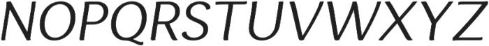 Espuma Pro Book Italic otf (400) Font UPPERCASE