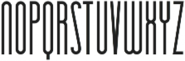 Essenziale otf (700) Font UPPERCASE