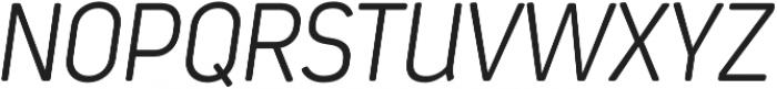 Estandar Rd ExtraLight Italic otf (200) Font UPPERCASE