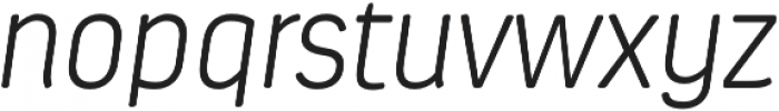 Estandar Rd ExtraLight Italic otf (200) Font LOWERCASE