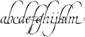 EstoniaSwashOne otf (400) Font LOWERCASE