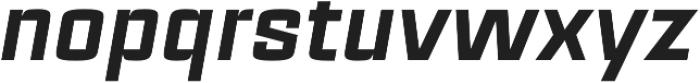 Estricta Black Italic Regular otf (900) Font LOWERCASE