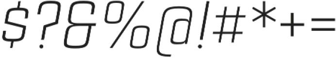 Estricta Light Italic Regular otf (300) Font OTHER CHARS