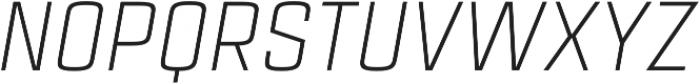 Estricta Light Italic Regular otf (300) Font UPPERCASE