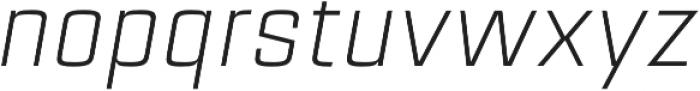 Estricta Light Italic Regular otf (300) Font LOWERCASE