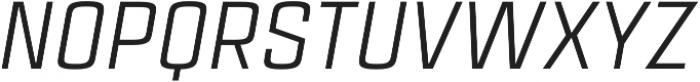 Estricta Regular Italic Regular otf (400) Font UPPERCASE