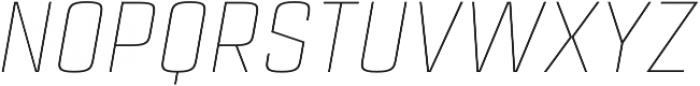 Estricta Thin Italic Regular otf (100) Font UPPERCASE