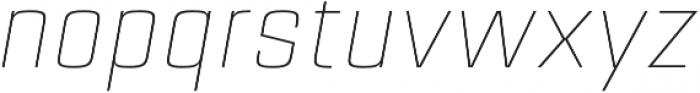 Estricta Thin Italic Regular otf (100) Font LOWERCASE