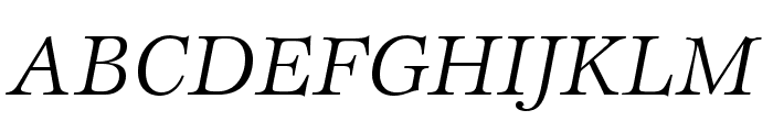 EspritStd-BookItalic Font UPPERCASE
