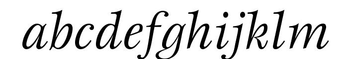 EspritStd-BookItalic Font LOWERCASE