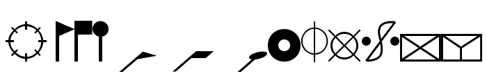 ESRI Cartography Font LOWERCASE