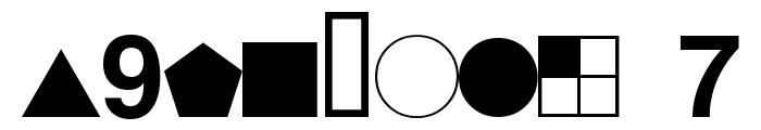 ESRI Geometric Symbols Font OTHER CHARS