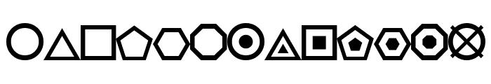 ESRI Geometric Symbols Font UPPERCASE