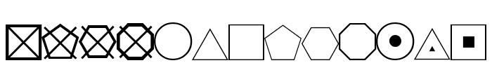 ESRI Geometric Symbols Font LOWERCASE