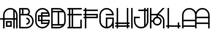 Escalatio Font UPPERCASE
