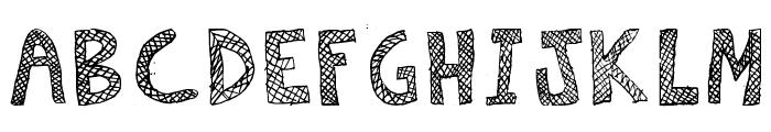 Escaned Font UPPERCASE
