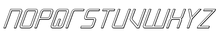 Escape Artist 3D Italic Font UPPERCASE