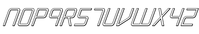 Escape Artist 3D Italic Font LOWERCASE