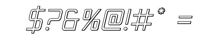 Escape Artist 3D Semi-Italic Font OTHER CHARS