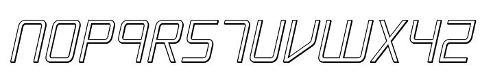 Escape Artist 3D Semi-Italic Font LOWERCASE