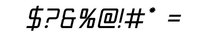 Escape Artist Bold Semi-Italic Font OTHER CHARS