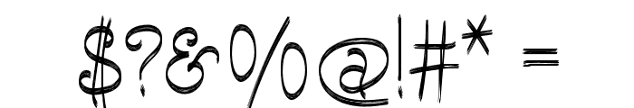 Escobeta-One Font OTHER CHARS