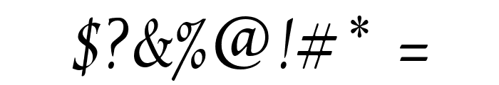 EscribaUT Italic Font OTHER CHARS