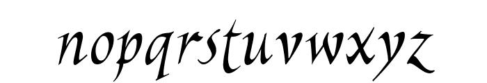 EscribaUT Italic Font LOWERCASE