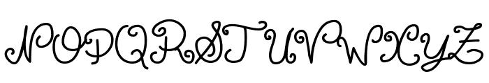 Escrita Toska Propria Med Italic Font UPPERCASE