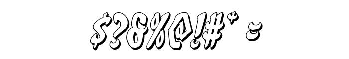 Eskindar 3D Italic Font OTHER CHARS
