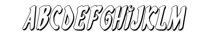 Eskindar 3D Italic Font UPPERCASE