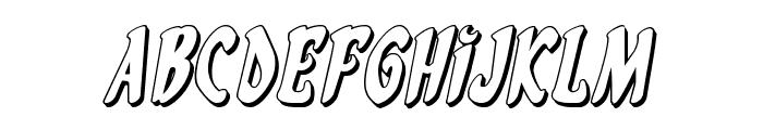 Eskindar 3D Italic Font LOWERCASE