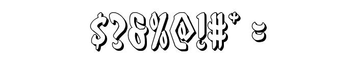 Eskindar 3D Regular Font OTHER CHARS