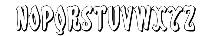 Eskindar 3D Regular Font UPPERCASE