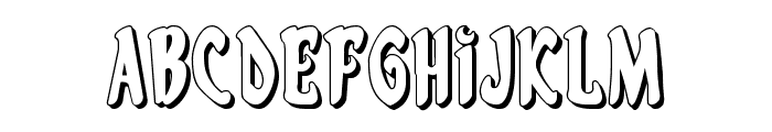 Eskindar 3D Regular Font LOWERCASE