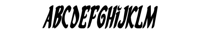 Eskindar Condensed Italic Font UPPERCASE