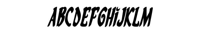 Eskindar Condensed Italic Font LOWERCASE
