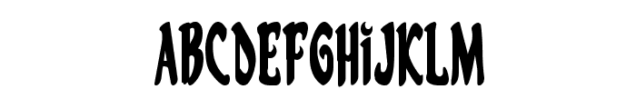 Eskindar Condensed Font LOWERCASE