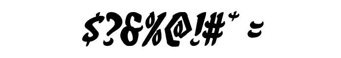 Eskindar Expanded Italic Font OTHER CHARS