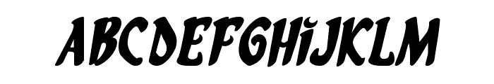 Eskindar Expanded Italic Font LOWERCASE