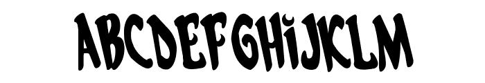 Eskindar Rotated Regular Font UPPERCASE