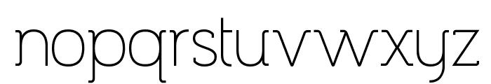Espacio Novo Medium Font LOWERCASE