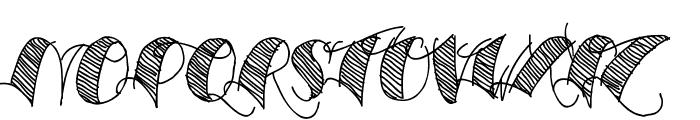 Espesor Olas Lines Font UPPERCASE