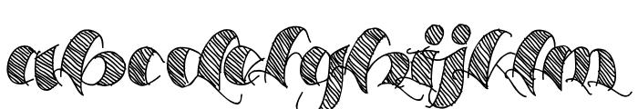 Espesor Olas Lines Font LOWERCASE