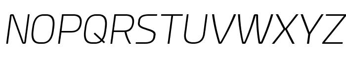 Esphimere Extra Light Italic Font UPPERCASE
