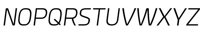 Esphimere Light Italic Font UPPERCASE