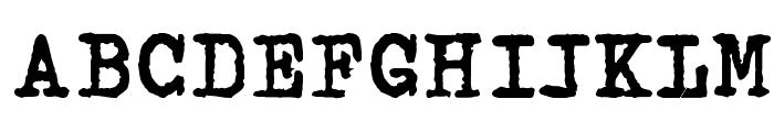 Espresso Font UPPERCASE