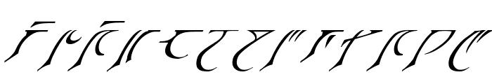 Espruar Italic Font UPPERCASE